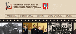 Screenshot der Website des instituts von www.komisija.lt
