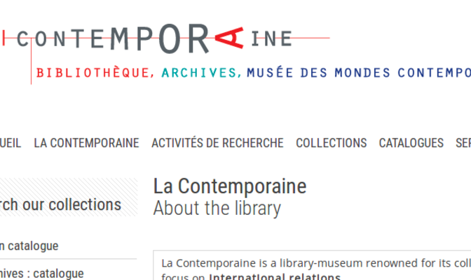 Bibliothèque de documentation internationale contemporaine ...